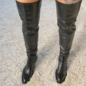 RARE CHANEL Vintage Over The Knee Riding Boot